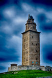 La Coruna, Spain, the lighthouse Stock Photo