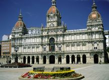 LA CORUNA, SPANJE GALICIË, NOORDELIJK SPANJE royalty-vrije stock afbeeldingen