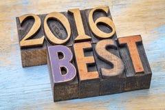 2016 la cosa migliore firmano dentro il tipo di legno Fotografia Stock Libera da Diritti