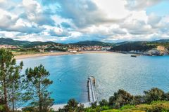 La costa basca a Plentzia e Gorliz fotografia stock libera da diritti