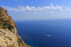 La costa blu Immagini Stock