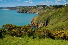La costa costa de Devon que mira hacia las arenas de Slapton Imagenes de archivo
