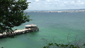 La costa costa de Varna bulgaria almacen de video