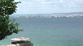 La costa costa de Varna bulgaria almacen de metraje de vídeo