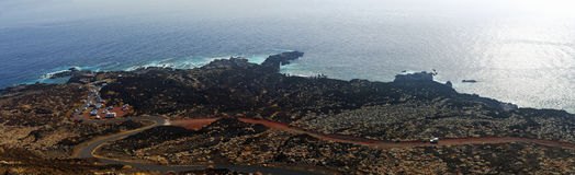 La costa costa del EL Hierro españa foto de archivo