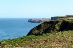 La costa costa del este de Yorkshire Imagen de archivo libre de regalías