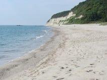 La costa costa del Mar Negro cerca de Varna, Bulgaria Fotos de archivo libres de regalías