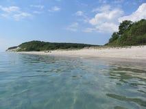 La costa costa del Mar Negro cerca de Varna, Bulgaria Fotografía de archivo libre de regalías