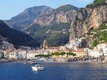 La costa de Amalfi imágenes de archivo libres de regalías