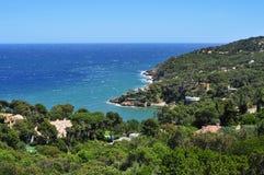 La costa de Begur, en Costa Brava, Cataluña, España Imagen de archivo