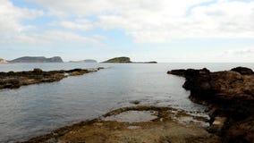 La costa de DES Canar en Ibiza almacen de metraje de vídeo