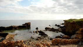 La costa de DES Canar en Ibiza almacen de video