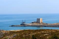 La costa de Gargano (Apulia, Italia) Imágenes de archivo libres de regalías