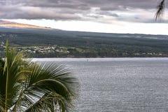 La costa de Hilo, isla grande, Hawaii Imagen de archivo libre de regalías