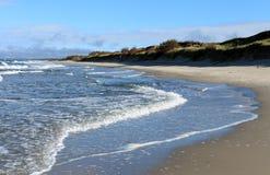 La costa de la duna arenosa Fotografía de archivo libre de regalías