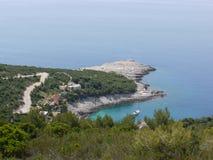La costa de la fuerza croata de la isla Foto de archivo