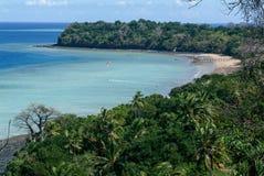 La costa de la isla de Mayotte fotografía de archivo libre de regalías