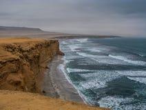 La costa de la reserva nacional de Paracas Foto de archivo libre de regalías