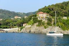 La costa de Levanto en Liguria Foto de archivo libre de regalías