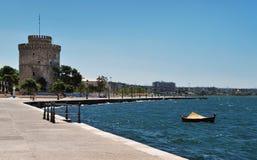 La costa de Salónica Fotos de archivo libres de regalías
