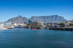 La costa de V&A en Cape Town, Suráfrica Foto de archivo libre de regalías