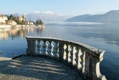 La costa del lago Como a Tremezzo Fotografia Stock