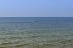 La costa del Mar Baltico la spiaggia in Zelenogradsk Fotografia Stock