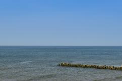 La costa del Mar Baltico la spiaggia in Zelenogradsk Fotografie Stock Libere da Diritti
