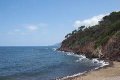 La costa del mar Mediterráneo Fotografía de archivo