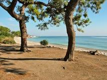 La costa del mar Mediterráneo en Turquía Foto de archivo libre de regalías