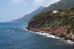 La costa del mar Mediterraneo Fotografie Stock Libere da Diritti