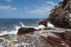 La costa del mar Mediterraneo Fotografia Stock