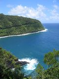 La costa del norte tropical de Maui fotografía de archivo libre de regalías