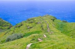 La costa dell'isola del Madera, Ponta fa Pargo, Portogallo Fotografie Stock Libere da Diritti