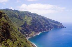 La costa dell'isola del Madera, Ponta fa Pargo, Portogallo Fotografia Stock Libera da Diritti