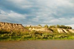 La costa derecha del río Irtysh Imagen de archivo