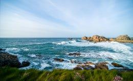La costa di brittany Fotografie Stock