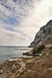 La costa di Gibilterra Fotografia Stock