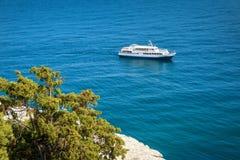 La costa di Mar Nero in Crimea Immagine Stock Libera da Diritti