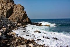 La costa di mare #1: Mutrah, Muskat, Oman Immagine Stock