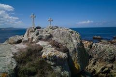 La costa di morte in Galizia Immagini Stock Libere da Diritti