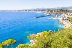 La costa di Nizza, Francia Fotografie Stock