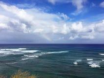 La costa di Oahu, Hawai Fotografie Stock