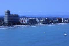 La costa di Peñiscola, su Costa Azahar, la Spagna fotografia stock libera da diritti