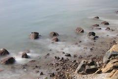 la costa di Sai Wan Swimming Shed Fotografia Stock Libera da Diritti