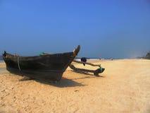La costa e le spiagge di Goa fotografie stock