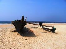 La costa e le spiagge di Goa fotografia stock libera da diritti