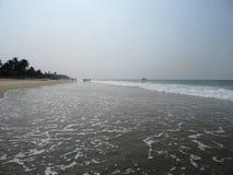 La costa e le spiagge di Goa fotografia stock