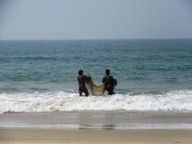 La costa e le spiagge di Goa immagini stock libere da diritti