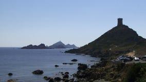 La costa costa en Córcega metrajes